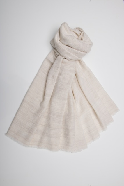 medium weight, lovely in cross woven, natural and undyed colours.