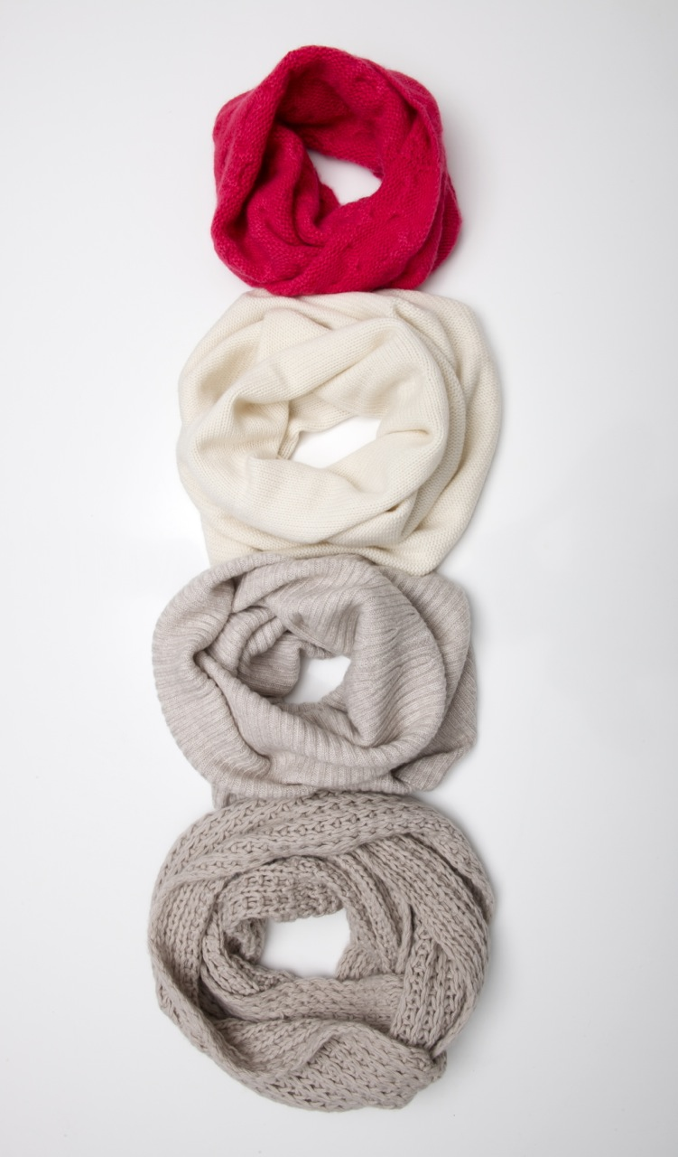 exquisitely soft cowl neck band, large enough to pull over the shoulders - can be worn both sides.