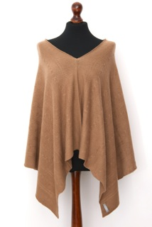 baby soft patterned knit mid weight cashmere poncho...for not quite a coat sort of weather.