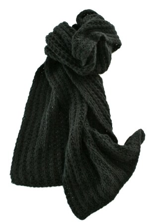 relaxed look loose knit super doft knitted scarf