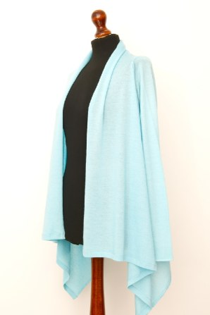 finely knitted classic open cardigan
