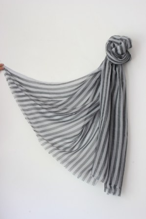 a rare cashmere yarn so fine that it makes these pieces virtually weightless and perfect for summer - in charming seaside stripe, navy, stone, charcoal or red with off white or bespoke colours