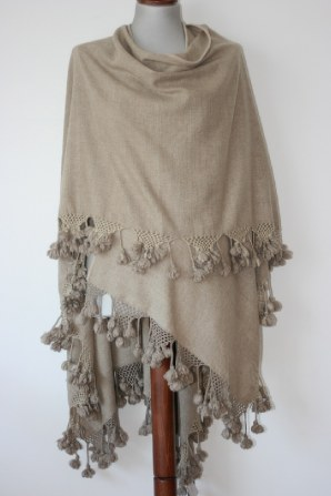 inspired by our moonset wrapOur best selling wrap.  Hand spun woven 100% cashmere wrap with crochet and tassle edging.