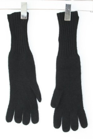 Longer length gloves that come midway to the elbow.