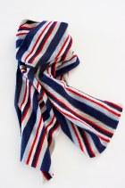 classic British gents stripe scarf