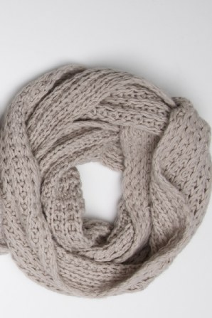 loose knit double length snood that can be worn long or wrapped double