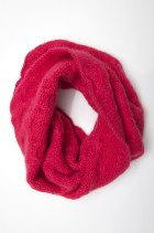 tightly knitted cable knit snood for extra warmth
